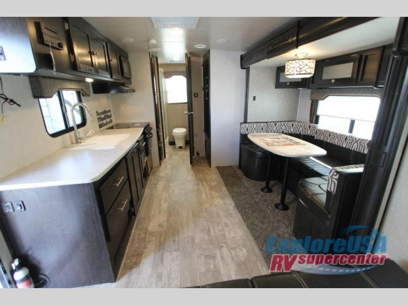 Heartland North Trail  Review 22FBS Travel Trailer Living Area