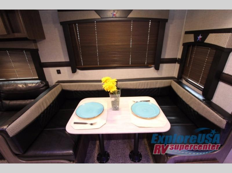 Crossroads Longhorn 285RL Review Travel Trailers U-shaped dinette ExploreUSA RV