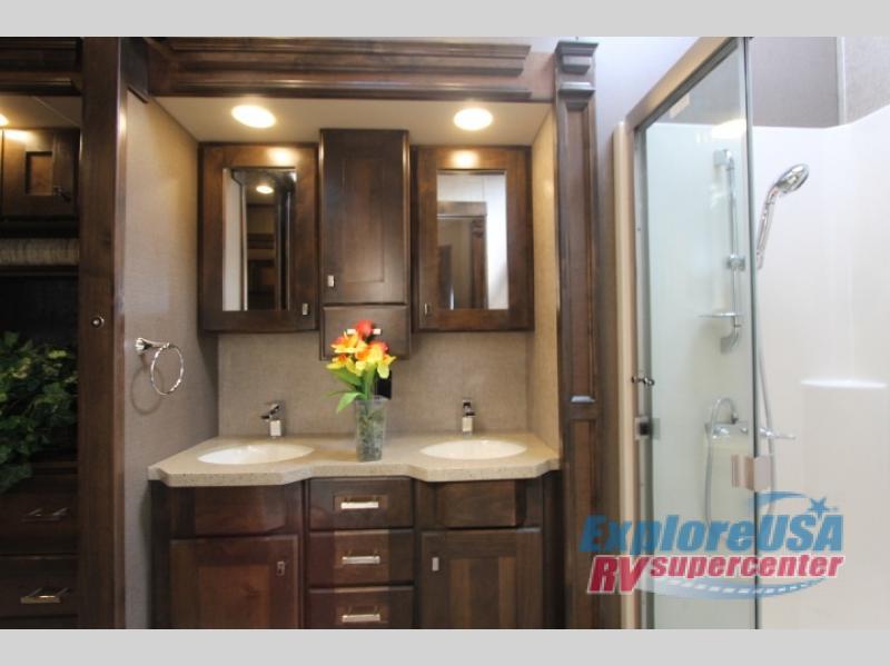 RV Guest House For Christmas ExploreUSA RV Bathroom